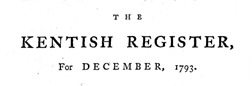 Kentish Register newspaper archives