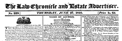 Law Chronicle newspaper archives