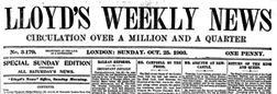 Lloyds Weekly News newspaper archives