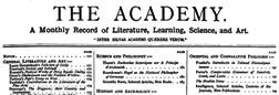 London Academy Volume Iii newspaper archives