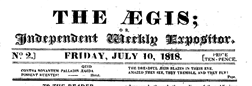 London Aegis newspaper archives