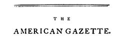 London American Gazette newspaper archives