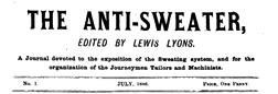 London Anti Sweater newspaper archives