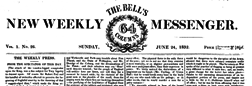 London Bell New Weekly Messenger newspaper archives