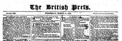 London British Press newspaper archives