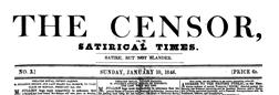 London Censor newspaper archives