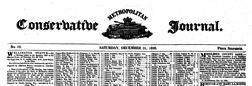 London Conserbatibe Journal newspaper archives