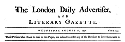 London Daily Advertiser And Literary Gazette newspaper archives