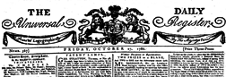London Daily Universal Register newspaper archives