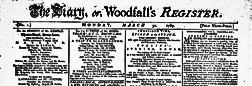 London Diary Or Woodfall Register newspaper archives