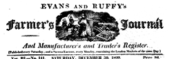London Evans And Ruffy Farmer Journal newspaper archives