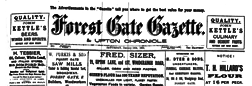 London Forest Gate Gazette And Upton Chronicle newspaper archives