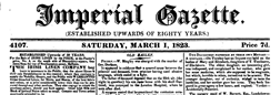 London Imperial Gazette newspaper archives