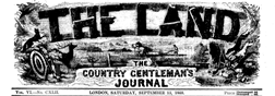 London Land Country Gentlemans Journal newspaper archives