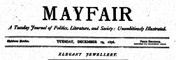 London Mayfair newspaper archives