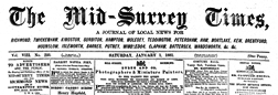 London Mid Surrey Times And General Advertiser newspaper archives