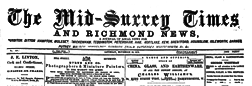 London Mid Surrey Times And Richmond News newspaper archives