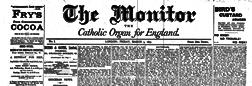 London Monitor Catholic Organ For England newspaper archives
