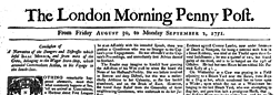 London Morning Penny Post newspaper archives