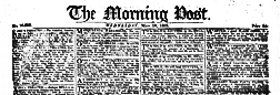 London Morning Post newspaper archives