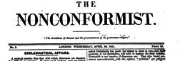 London Nonconformist newspaper archives