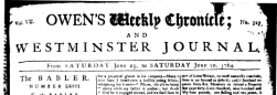 London Owen Weekly Chronicle Or Universal Journal newspaper archives