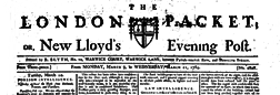 London Packet Or New Lloyds Evening Post newspaper archives