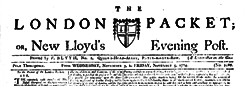 London Packet newspaper archives