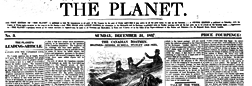 London Planet newspaper archives