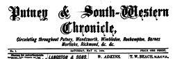 London Putney And South Western Chronicle newspaper archives