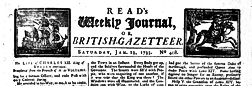 London Read Weekly Journal Or British Gazetteer newspaper archives