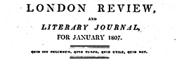 London Review And Literary Journal newspaper archives