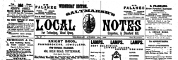 London Saltmarhs Local Notes newspaper archives