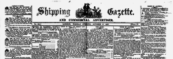 London Shipping Gazette And Commercial Advertiser newspaper archives