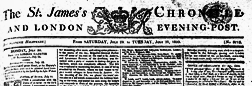 London St James Chronicle And Evening Post newspaper archives