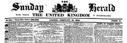 London Sunday Herald United Kingdom newspaper archives