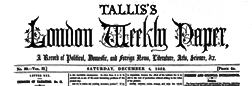 London Tallis London Weekly Paper newspaper archives