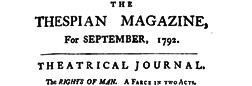 London Thespian Magazine And Literari Repository newspaper archives