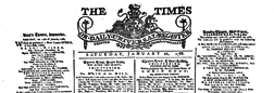 London Times newspaper archives