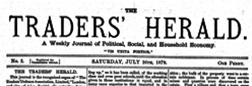London Trader Herald newspaper archives