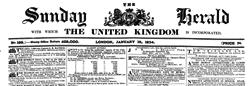 London United Kingdom Sunday Herald newspaper archives