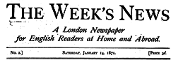 London Week News newspaper archives
