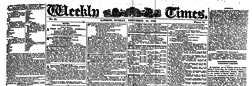 London Weekly Times newspaper archives