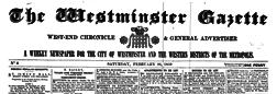 London Westminster Gazette newspaper archives