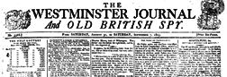 London Westminster Journal And Old British Spy newspaper archives