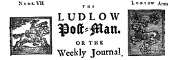 Ludlow Post Man newspaper archives