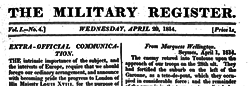 Military Register newspaper archives