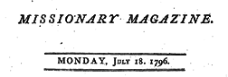 Missionary Magazine newspaper archives