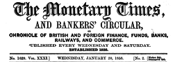 Monetary Times newspaper archives