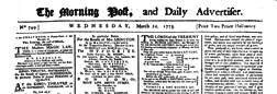 Morning Post And Daily Advertiser newspaper archives